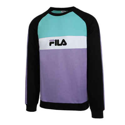 682441 KAIL CREW - Sweat Homme black/violet tulip/bright white