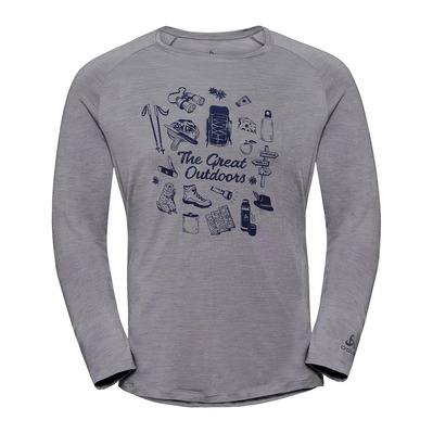 CONCORD - Tee-shirt Homme grey melange/great outdoor print SS19