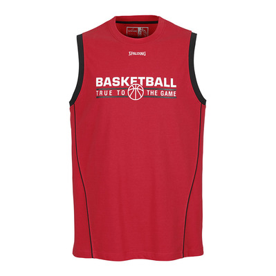 TEAM - Camiseta de tirantes hombre red/black
