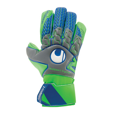 TENSIONGREEN SOFT SF - Gants gardien dark grey/fluo green/navy