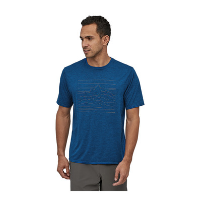 PATAGONIA - M's Cap Cool Daily Graphic Shirt Homme Up High Endurance: Superior Blue X-Dye