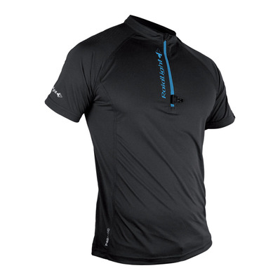 RAIDLIGHT - ACTIV RUN SS SHIRT MID ZIP Homme BLACK