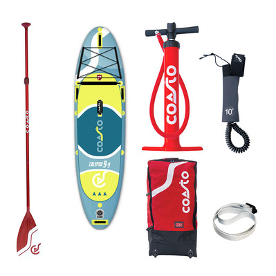 "CALYPSO 9'9"" - Stand up paddle gonflable blue/yellow + accessoires"