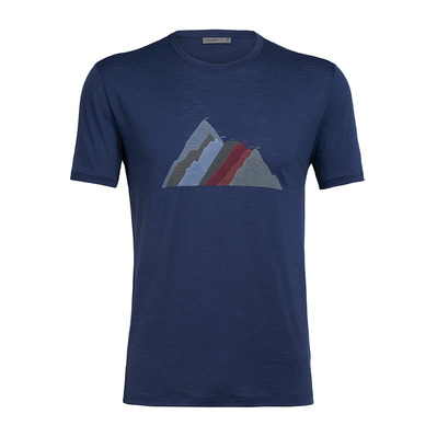 ICEBREAKER - SPECTOR SEVEN SUMMIT STACK - Tee-shirt Homme estate blue