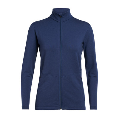 ICEBREAKER - Wmns Victory LS Zip / ESTATE BLUE XS Femme Estate Blue