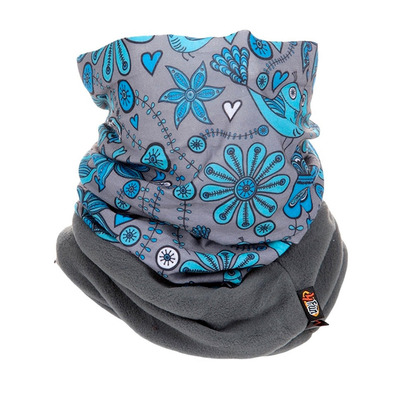 POLARTEC® TEC 8 en 1 - Foulard Junior Flower blue