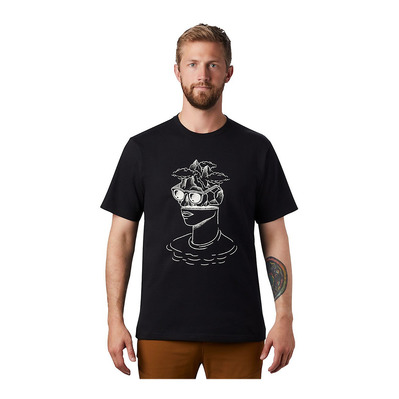 MOUNTAIN HARDWEAR - HEAD IN THE CLOUDS - Tee-shirt Homme black