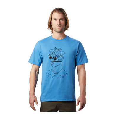 MOUNTAIN HARDWEAR - HEAD IN THE CLOUDS - Tee-shirt Homme deep lake