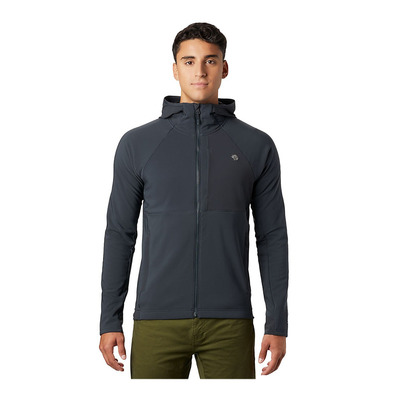 MOUNTAIN HARDWEAR - KEELE - Fleece - Men's - dark storm