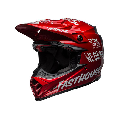 MOTO-9 FLEX FASTHOUSE DID 19 - Casque off-road mat/gloss red/navy