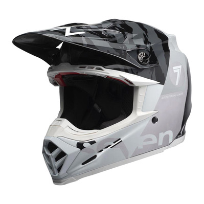 MOTO-9 FLEX SEVEN ZONE - Casque off-road shiny black/chrome