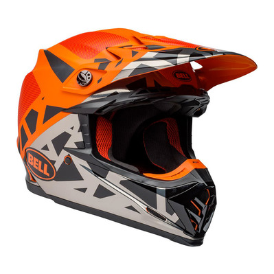 MOTO-9 MIPS® TREMOR - Casque off-road gross black/orange/chrome