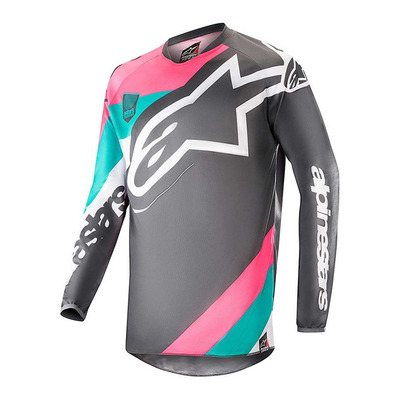 RACER INDY VICE LIMITED EDITION - Camiseta hombre gray/pink/turquoise