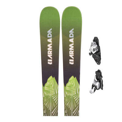 INVICTUS 85 - Skis all mountain Homme multicolor + Fixations PRD 12 MBS B85 matt white/black