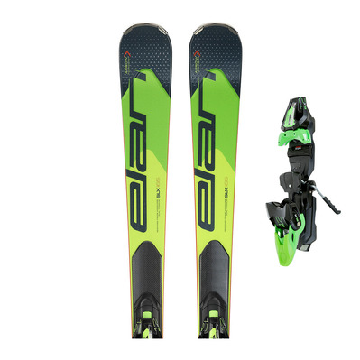 GSX FUSION 18/19 - Skis race Homme green/black + Fixations ELX 12.0 FUSION GW black/green