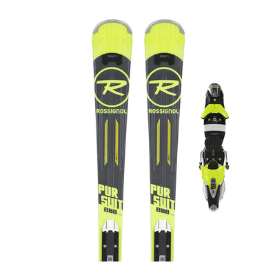 PURSUIT 800 TI - Skis piste Homme + Fixations SPX 12 KONECT DUAL WTR B80 black/yellow