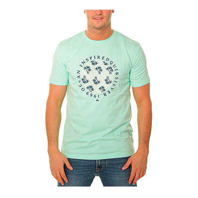 QUIKSILVER - BLOWING SMOKE - Tee-shirt Homme beach glass