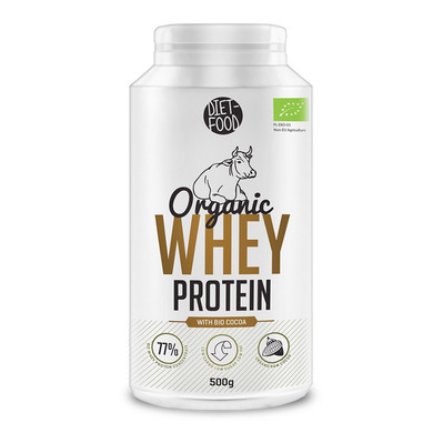 Diet food BIO WHEY PROTEIN WITH COCOA - Pot de protéines organiques de lactosérum 500g