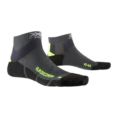 X-SOCKS - RUN DISCO20 Ch/Jau Unisexe Charcoal/Jaune