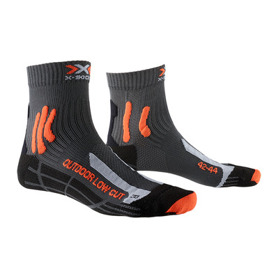 X-SOCKS - TREK OUTDOOR LOW CUT - Calcetines antracita/naranja