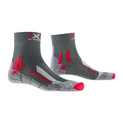 X-SOCKS - TREK OUTDOOR LOW CUT - Calcetines antracita/rojo