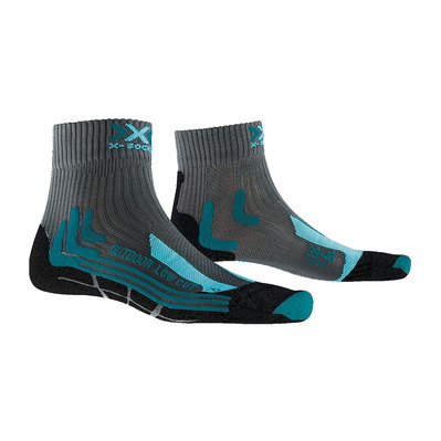 X-SOCKS - TREK OUTDOOR LOW CUT - Calcetines mujer antracita/turquoise