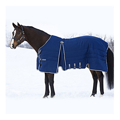RAMBO OPTIMO STABLE RUG - Couverture de box 400g navy/beige/baby blue