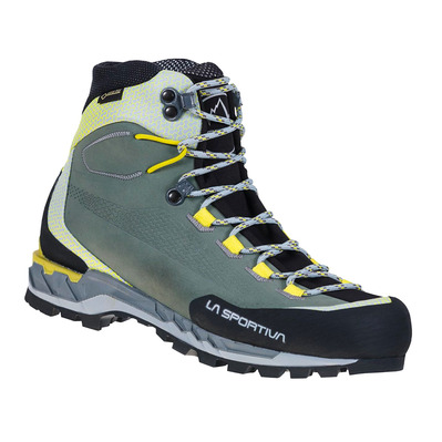 LA SPORTIVA - TRANGO TECH LEATHER GTX - Scarpe da escursionismo Donna clay/celery