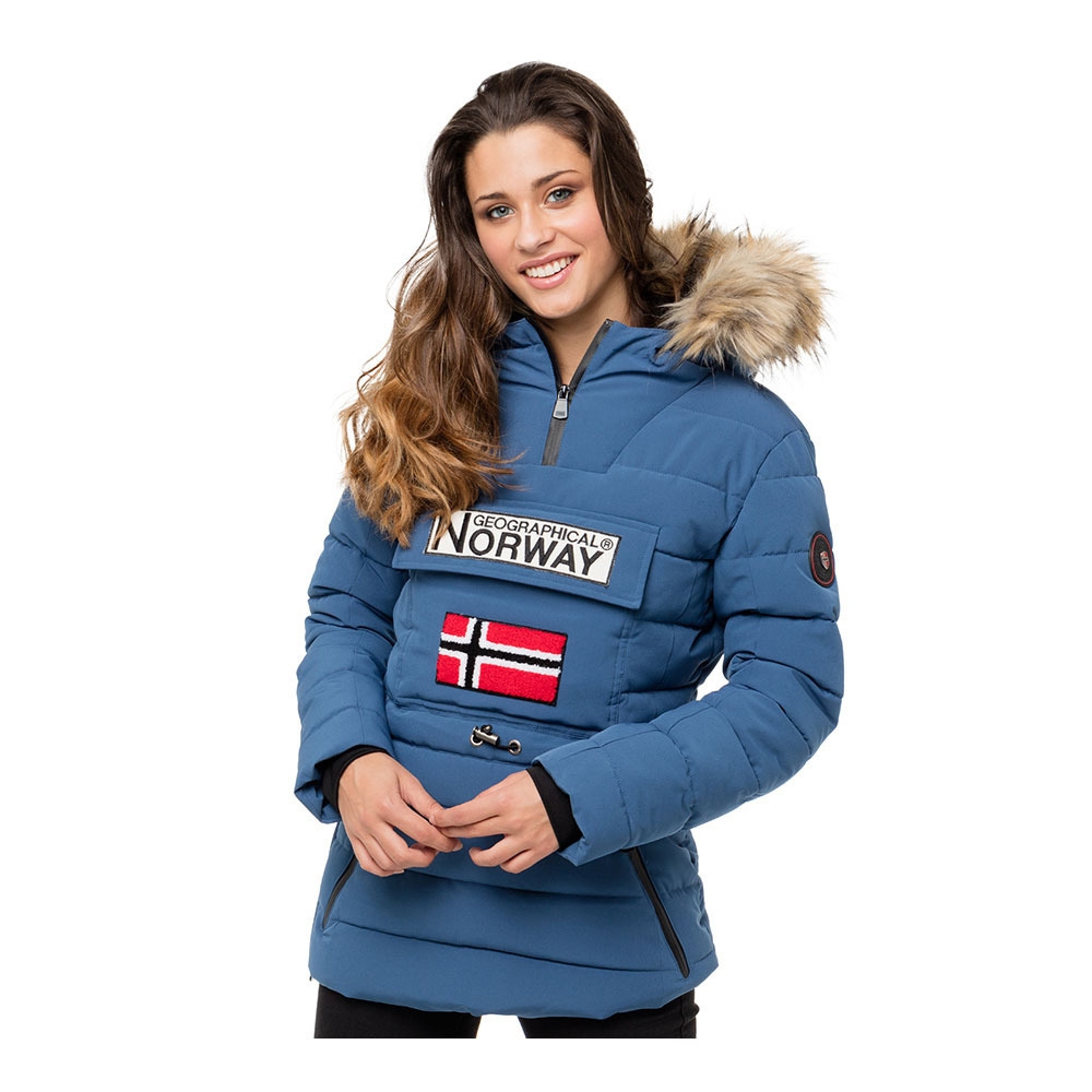 Liquidacion Tallas Grandes Geographical Norway Boonshine Anorak Mujer Blue Private Sport Shop