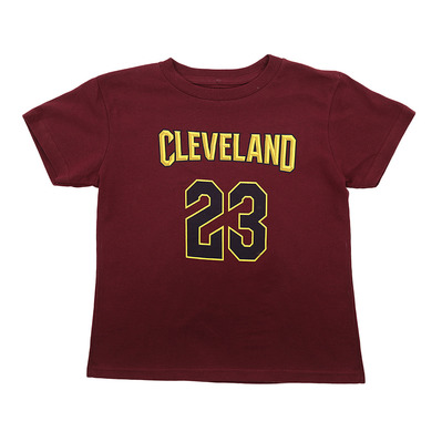 FLAT REPLICA CAVLJ - Tee-shirt Junior garnet