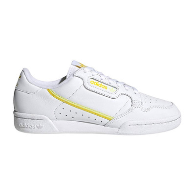 CONTINENTAL 80 - Sneakers Femme blanc/jaune