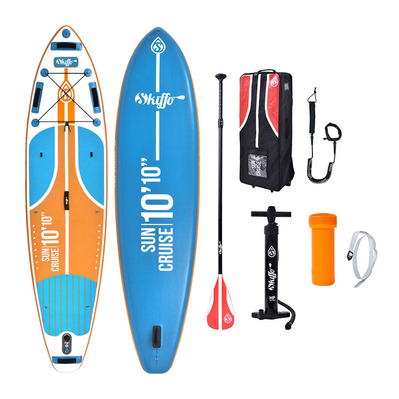 SUN CRUISE PRO 10'10 - Stand up paddle gonflable bleu/orange + accessoires