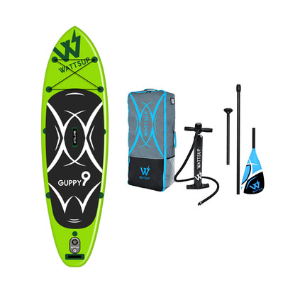 GUPPY 9' - Stand up paddle gonflable green + accessoires