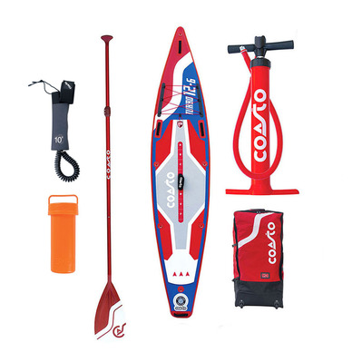 TURBO 12'6 - Stand up paddle gonflable blue/red + accessoires