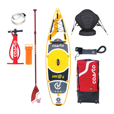 ARGO 10'6 - Stand up paddle gonflable grey/yellow + siège kayak + accessoires