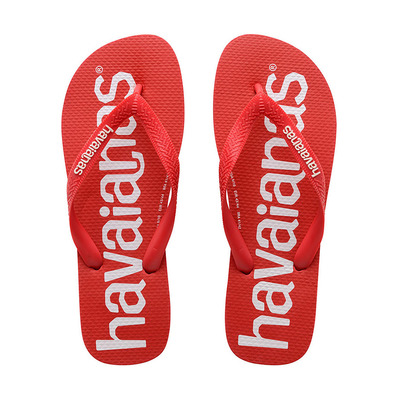 HAVAIANAS - TOP LOGOMANIA - Tongs Homme ruby red