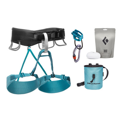 BLACK DIAMOND - MOMENTUM HARNESS - W'S PACKAGE Femme Aqua Verde
