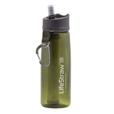 LIFESTRAW - GO 2 STAGES - Gourde filtrante green