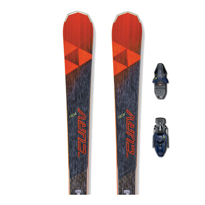 RC4 THE CURV DTX RT - Skis race + Fixations RC4 Z12 RT B85 matt black/racing blue