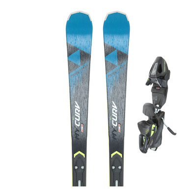 MY CURV ALLRIDE - Skis piste Femme + Fixations RC4 Z11 GW POWERRAIL B78 solid black/racing blue/yellow