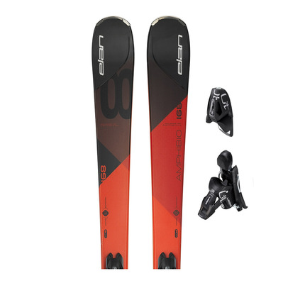 AMPHIBIO 8 PS - Esquís all mountain black/red + fijaciones EL 10.0 SHIFT