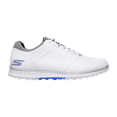 GO GOLF ELITE 2 - Chaussures Homme white and gray leather/blue trim