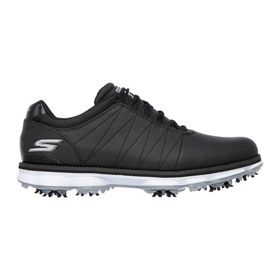GO GOLF PRO - Chaussures Homme black leather/white trim