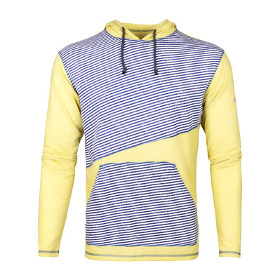 ASKLEV - Sudadera hombre blue stripes/yellow apple