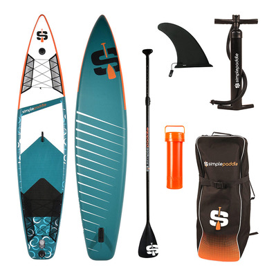"XL RACE 12'0"" - Stand up paddle gonflable bleu/noir/orange/blanc + accessoires"