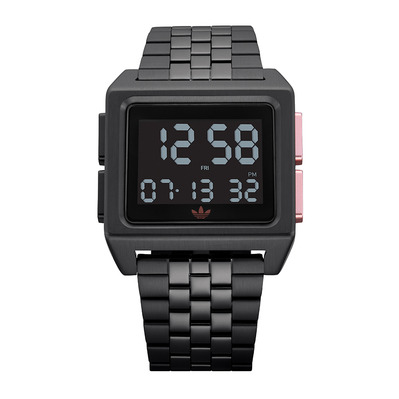 ARCHIVE M1 - Reloj digital hombre all black/copper