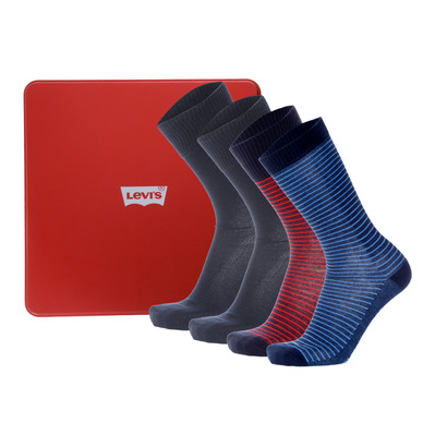 Levis GIFTBOX - Paio di calze x4 Uomo navy/red combo