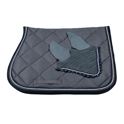 Wagner SADDLEPAD SET - Tapis mixte + bonnet grey/silver/blue