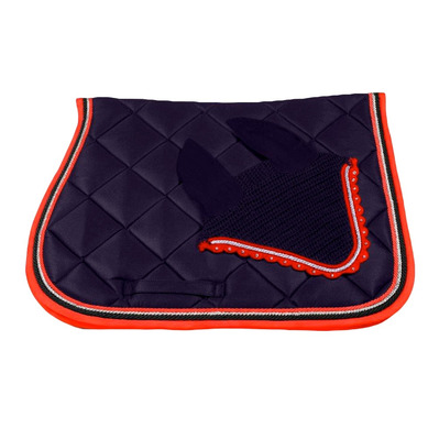 Wagner SADDLEPAD SET - Tapis mixte + bonnet blue/silver/red