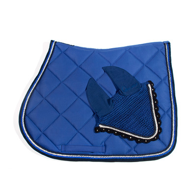 Wagner SADDLEPAD SET - Tapis de dressage + bonnet royal blue/blue